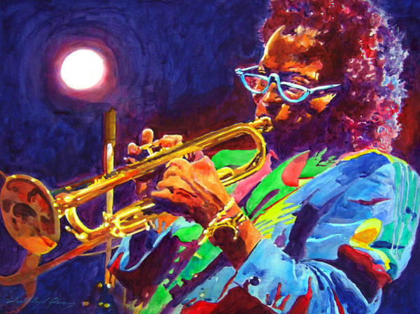 Painting - Sir Miles Davis by David Lloyd Glover