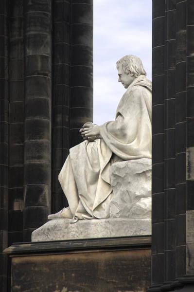 Sir Photograph - Sir Walter Scott Statue by Mike McGlothlen