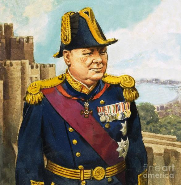 Wall Art - Painting - Sir Winston Churchill by English School