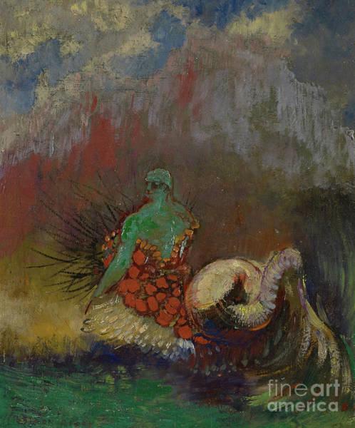 Siren Painting - Siren, Circa 1900 by Odilon Redon