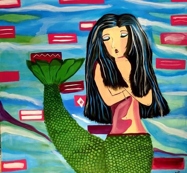 Acrilic Painting - Siren by Meza Vickie