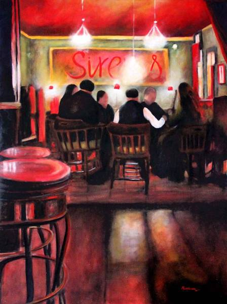 Port Townsend Painting - Sirens Pub by Marti Green