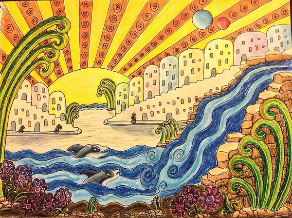 Drawing - Sirius B Sunrise  by Karen Buford