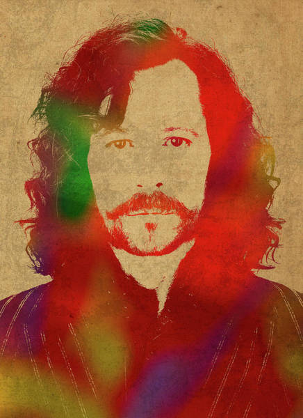 Wall Art - Mixed Media - Sirius Black From Harry Potter Watercolor Portrait by Design Turnpike