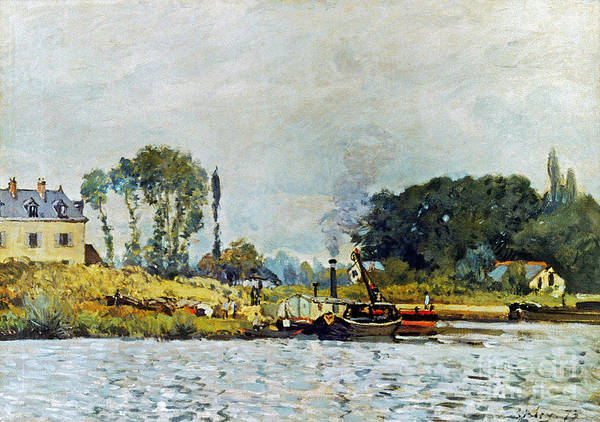 Photograph - Sisley: Boats, 1873 by Granger