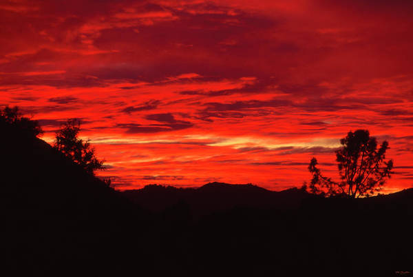San Rafael Wilderness Photograph - Sisquoc River Sunset by Soli Deo Gloria Wilderness And Wildlife Photography