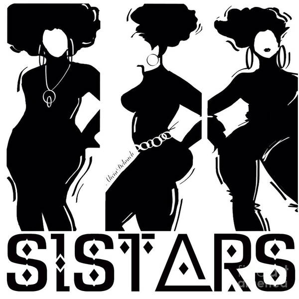 Wall Art - Digital Art - siSTARS by Respect the Queen