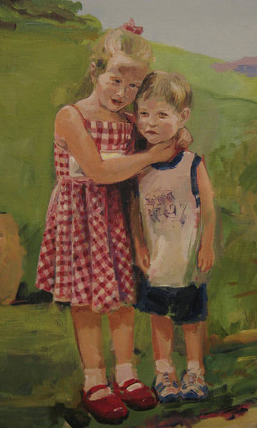 Painting - Sister And Brother by Tigran Ghulyan