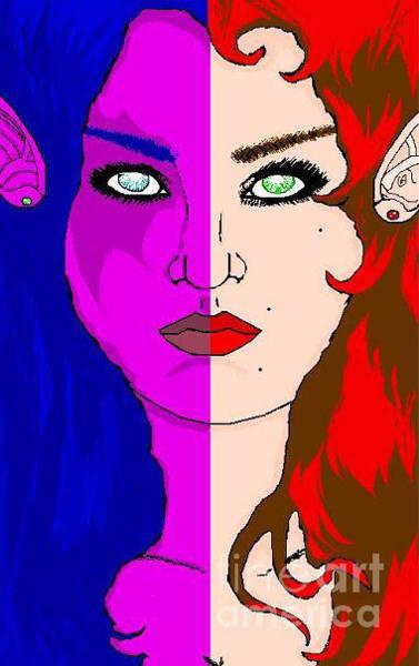 World Of Warcraft Wall Art - Digital Art - Sister Races by Veronica Wiggins