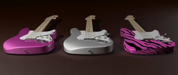 Wall Art - Digital Art - Sister What Have You Done To My Guitars by James Barnes