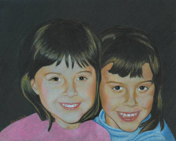 Drawing - Sisters  by Ana Tirolese