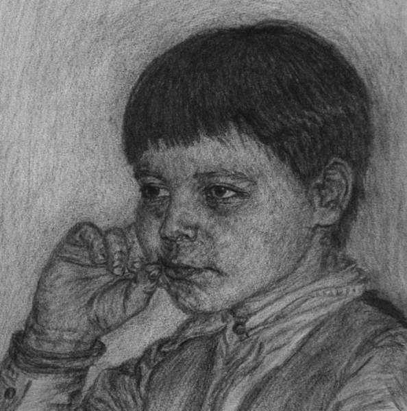 Drawing - Sisters Boy by Sami Tiainen