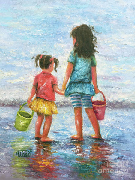 Wall Art - Painting - Sisters By The Sea by Vickie Wade