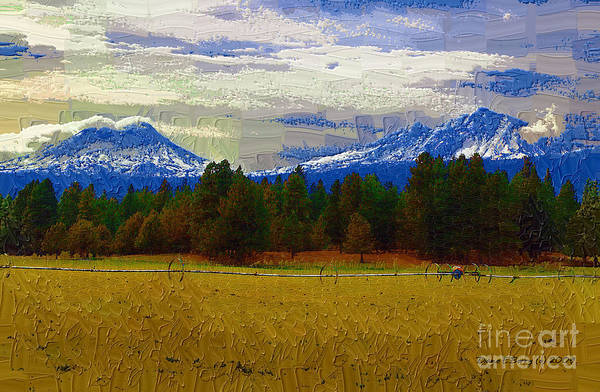 Diane Berry Wall Art - Painting - Sisters Cascade Range by Diane E Berry
