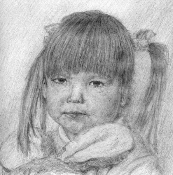 Drawing - Sisters Girl by Sami Tiainen
