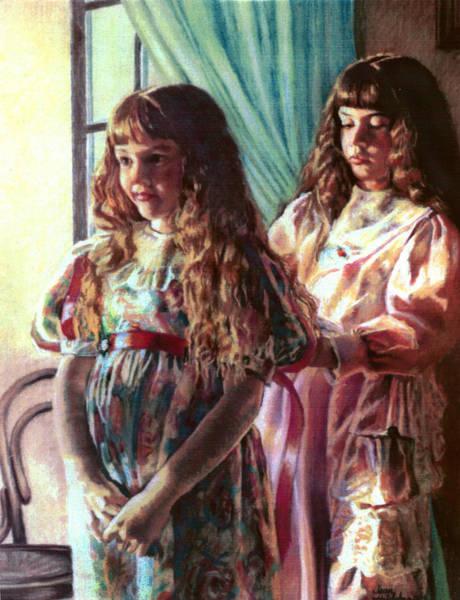 Pastel - Sisters by Jean Hildebrant