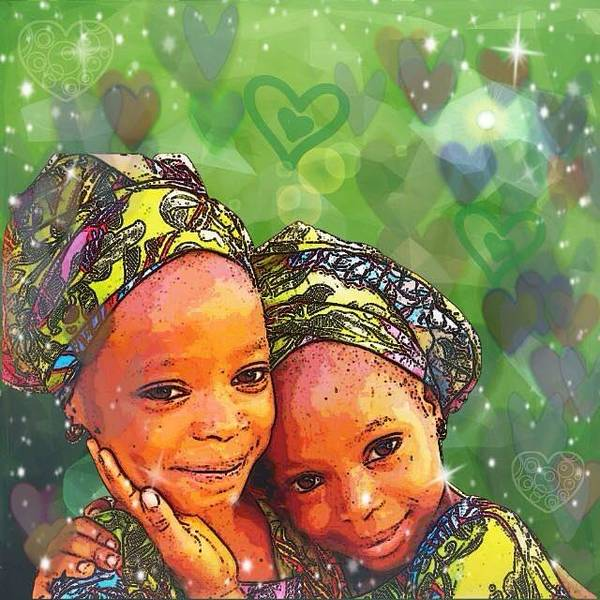 Digital Art - Sisters Love by Karen Buford