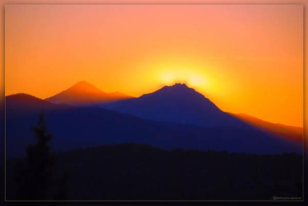 Wall Art - Photograph - Sisters Sunset - Bend, Oregon by John Melton