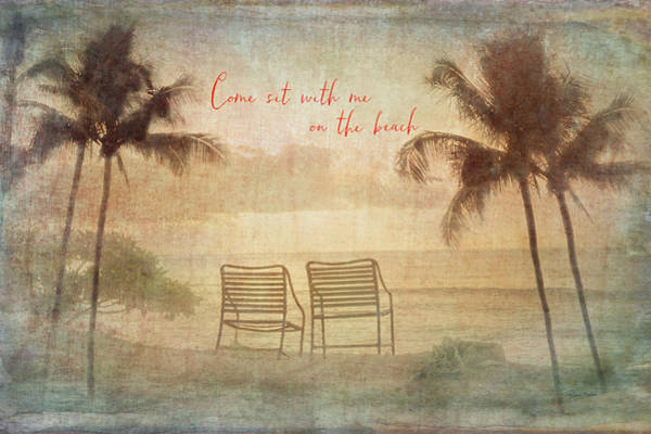 Digital Art - Sit With Me On The Beach by Ramona Murdock