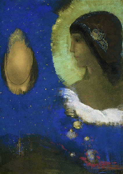 Hindu Goddess Wall Art - Painting - Sita by Odilon Redon