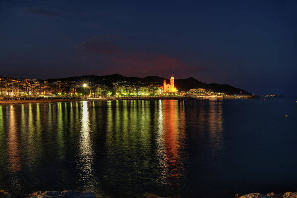 Photograph - Sitges Night 001 by Lance Vaughn