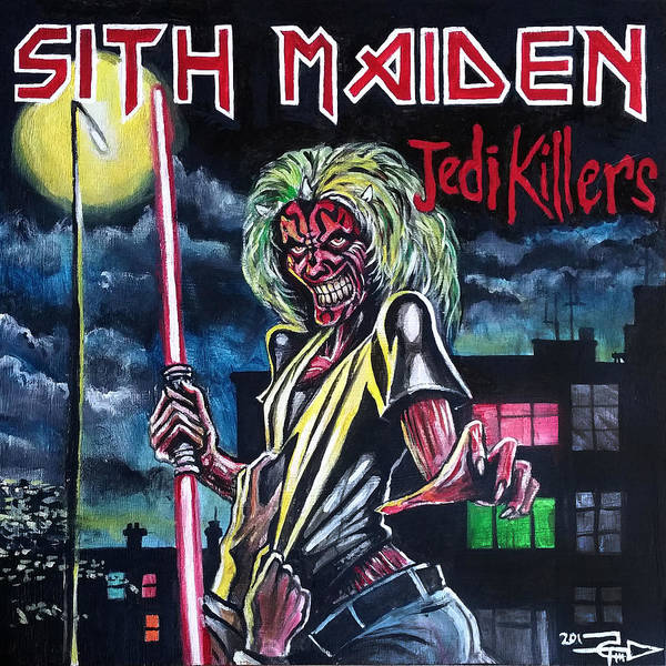 Iron Maiden Wall Art - Painting - Sith Maiden by Tom Carlton
