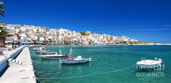 Taverna Photograph - Sitia Seafront With Boats by Antony McAulay