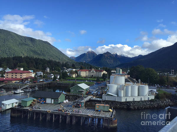 Photograph - Sitka From The Waterfront Showing The Three Sisters In The Back 2015 by California Views Archives Mr Pat Hathaway Archives