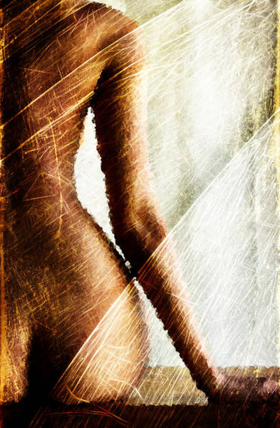 Wall Art - Digital Art - Sitted Woman by Andrea Barbieri