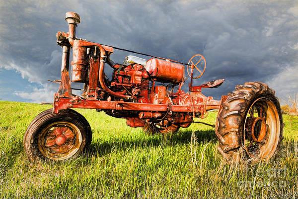 Vintage Tractor Painting - Sittin Pretty II by Dan Carmichael