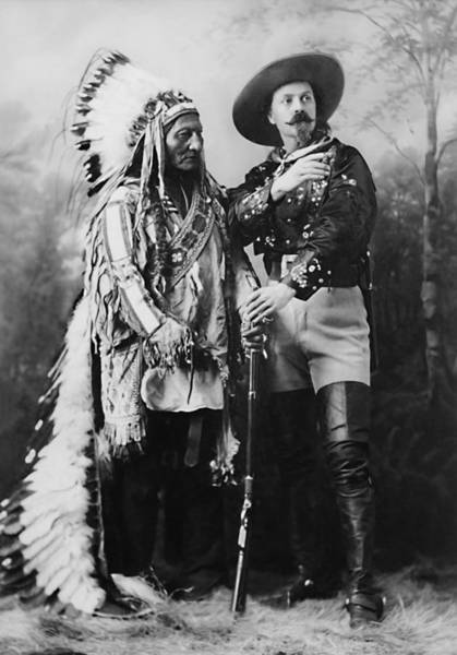 Wall Art - Photograph - Sitting Bull And Buffalo Bill - 1897 by War Is Hell Store