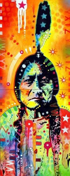 Feather Stars Wall Art - Painting - Sitting Bull by Dean Russo Art