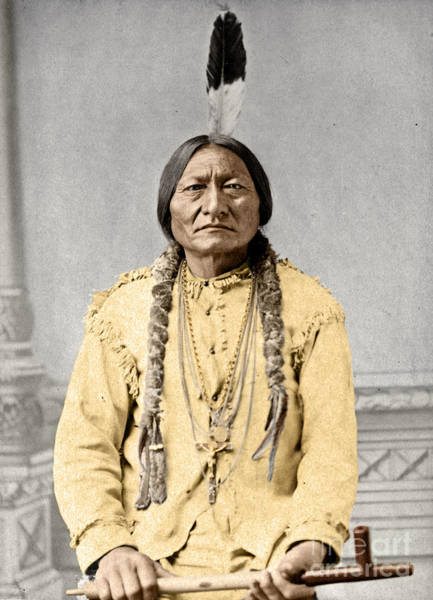 Photograph - Sitting Bull by Granger