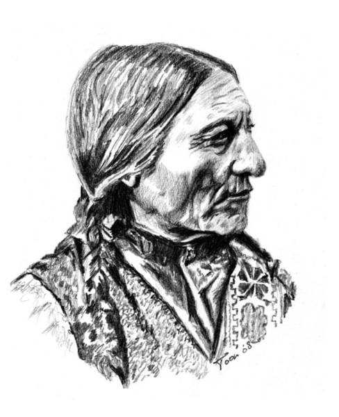 Drawing - Sitting Bull by Toon De Zwart