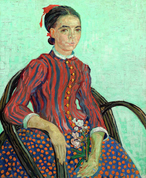 Cane Painting - Sitting In A Cane Chair by Vincent van Gogh
