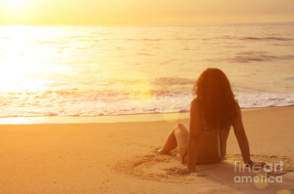Wall Art - Photograph - Sitting In The Sand by Carlos Caetano