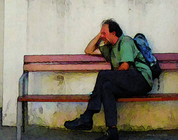 Photograph - Sitting On A Bench by Coleman Mattingly