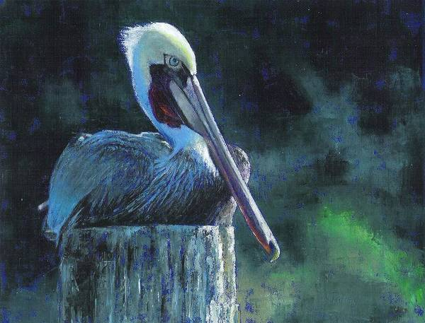 Roost Painting - Sitting On The St Marks by Pam Talley
