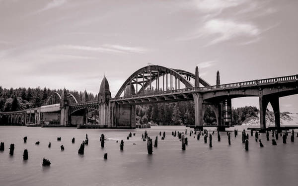 Photograph - Siuslaw River Bridge by HW Kateley