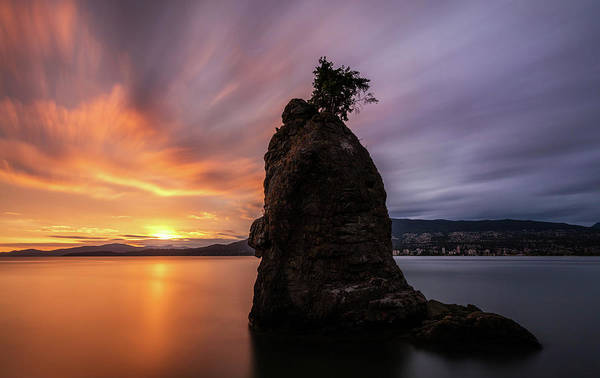 Photograph - Siwash Rock Sunset Vancouver by Pierre Leclerc Photography