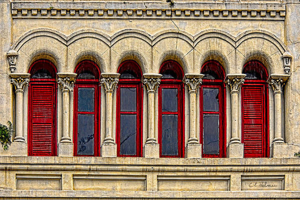 Photograph - Six Arched Windows by Christopher Holmes