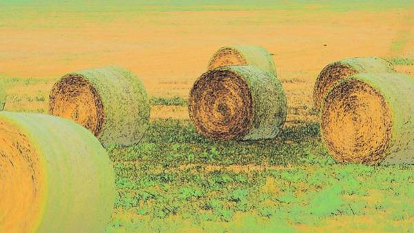 Photograph - Six Bales 7409 by Jerry Sodorff