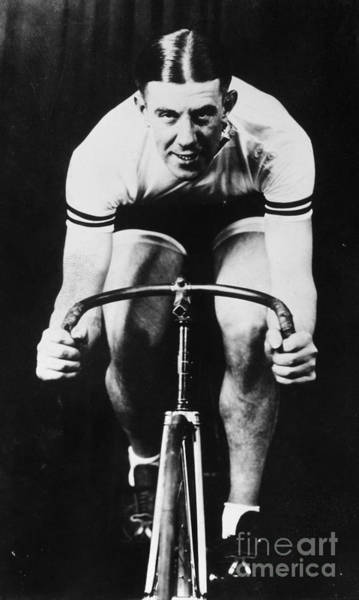 Photograph - Six-day Bicycle Racer by Granger