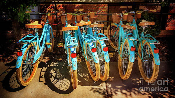 Photograph - Six Huffy Bicycles by Craig J Satterlee