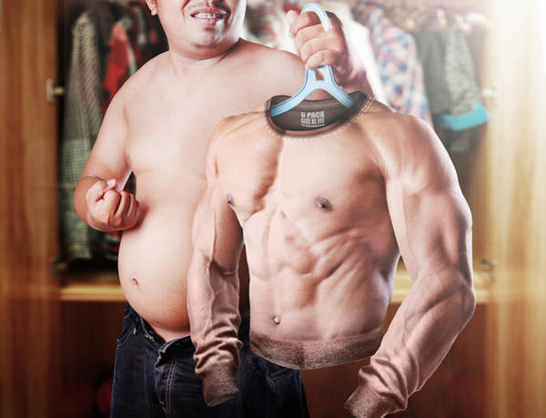 Contemporary Photograph - Six Pack Wannabe by Ihdar Nur ; Dadank