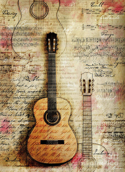 Manuscript Wall Art - Digital Art - Six String Sages by Gary Bodnar