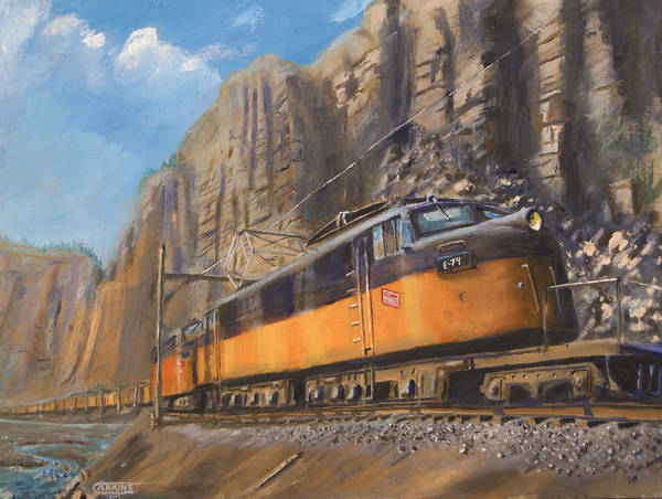 Wall Art - Painting - Sixteen Mile Canyon by Christopher Jenkins