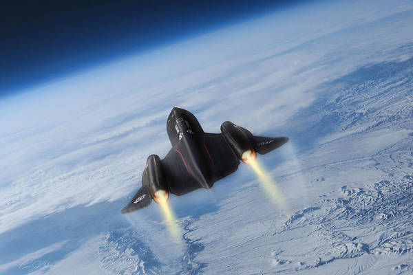 Supersonic Speed Wall Art - Digital Art - Sixteen Miles High by Peter Chilelli