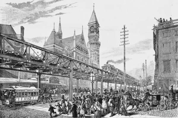 Photograph - Sixth Avenue El Train 1878 by Omikron