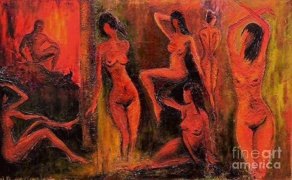 Naked Woman Painting - Sixth Circle by Suzann's Art